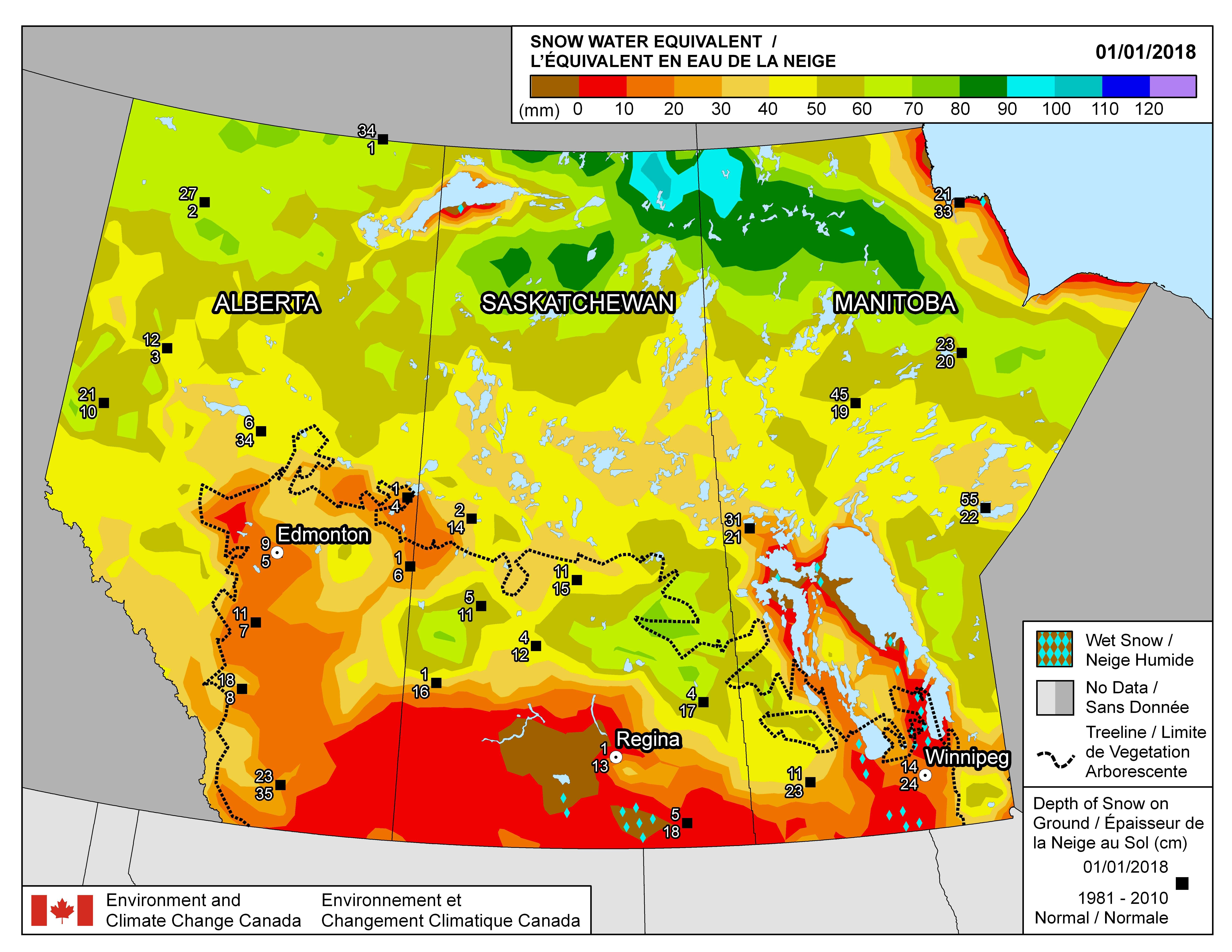 Alberta Environment: Alberta River Basins Precipitation Maps